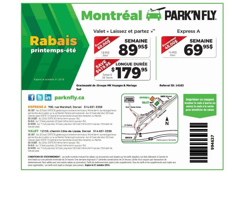 park n fly printable coupons stationnement a 233 roport montr 233 al park and fly 23899 | park and fly rabais coupon