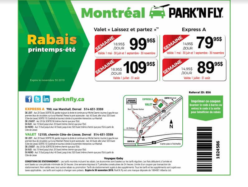 park & fly rabais parking montreal